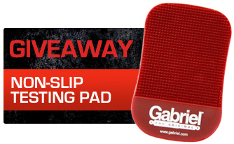 Giveaway - non-slip testing pad